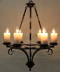 faux candle light fixtures old world 6 light rubbed bronze chandelier with faux candles ebay