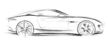 sports car drawing jaguar c x16 concept official sketch concept sketches