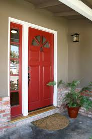 House Front Door Red Front Door And Bold House Exterior Traba Homes