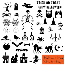 a collection of easy to print halloween icons including ghosts