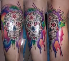 sugar skull with aquarell bl design studio flickr