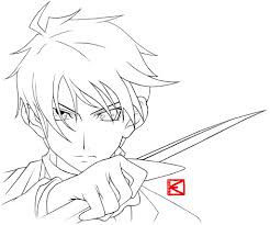 anime outline easy to draw pics of anime outline