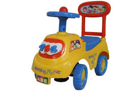 car toy blue push along ride on car children car toy alphabet themed storage