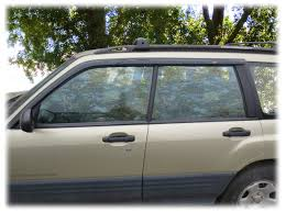 1999 subaru forester lifted tape on outside mount window visors rain guards shades wind