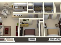 small two room apartment plans allstateloghomes com
