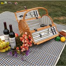 picnic basket for 2 vintage wicker picnic basket set for 2 persons outdoor willow