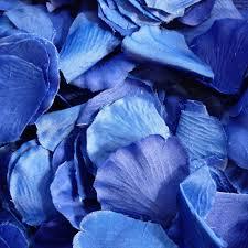 Silk Rose Petals 500 Royal Blue Silk Rose Petals My Wedding Store