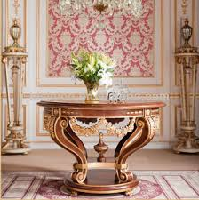 Luxurious Dining Table Antique Luxury Dining Room Furniture Golden Round Dining Table