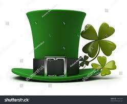 st patricks hat fourleaf clover 3d stock illustration 71443759