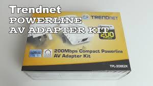 Tpl 308e2k Trendnet 200mbps Compact Powerline Av Adapter Kit Youtube
