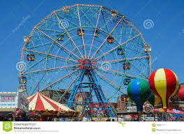wonder wheel ferris wheel at coney island editorial photo image