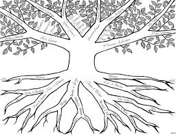 family tree coloring page amazing tree without leaves in the fall
