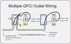 multiple gfci outlet wiring diy electric pinterest outlet