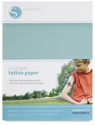 silhouette temporary tattoo paper blick art materials