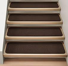 amazon com set of 12 attachable indoor carpet stair treads