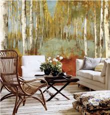 view in gallery autumn forest mural wallpaper 7