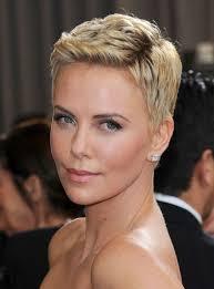 woman with short hair theron short haircut