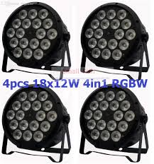 wholesale 4xlot sale 2016 18x12w rgbw led par light dmx stage