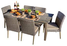 Rattan Patio Dining Set Outdoor Wicker Dining Chairs Icifrost House