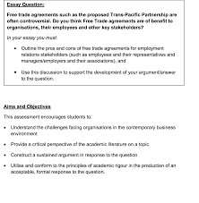 sample essay questions for job applicants employment essay formatting an employment essay essay opening essay question trade agreements such as the proposed trans essay question trade agreements such as the