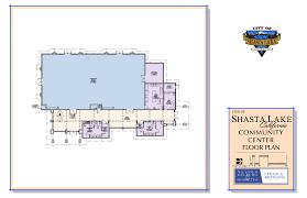 Community Center Floor Plan Shasta Lake Ca Official Website City Hall And Community