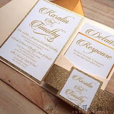wedding pocket invitations wedding pocket glitter wedding invitation template photo