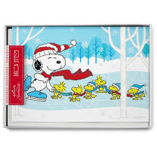 peanuts friends skating language cards box