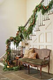 Christmas Banister Garland Ideas Model Staircase Fantastic Staircase Garland Image Concept
