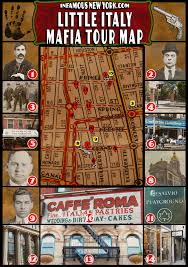 New York Gang Territory Map by Little Italy Mafia Walking Tour Map Infamous New York