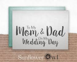 To My Groom On Our Wedding Day Card To My Mom U0026 Dad On My Wedding Day Wedding Thank You Card Father Of