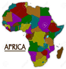 africa map all countries an africa map with all countries in colour isolated on a white