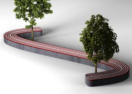 S Shaped Bench Buyuks Outdoor Seating System Design By Omc