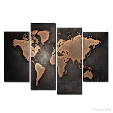 Wall Decor Canvas 2017 Wall Decor Canvas Painting Canvas Art Brown World Map Digital