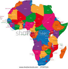 africa map colorful africa map countries capital cities stock vector 37197124