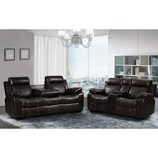 reclining sofa and loveseat set sherry dark brown leather air 2 pc reclining sofa and gliding