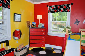 Mickey Mouse Bedroom Furniture Mickey Mouse Bedroom Decorating Ideas With Valance Curtains And