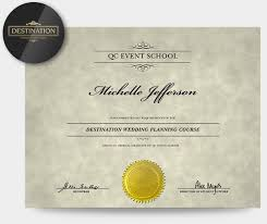 wedding planner certification course destination wedding planning specialization qc event school