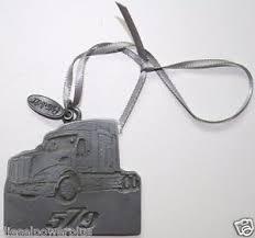 peterbilt logo emblem semi truck tree ornament