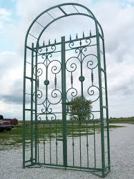 Metal Garden Arches And Trellises Iron Country French Arbor Entry Gate 8 U0027 Tall Arch