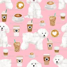 bichon frise quilt bichon frise coffee fabric cute dogs design dog fabrics best dog