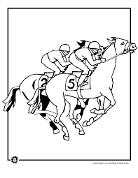 coloring sheets of a horse kentucky derby color sheets kentucky derby coloring pages horse