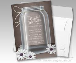 vintage bridal shower invitations jar brown bridal shower invitations