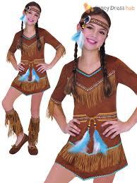 girls red indian costume native fancy dress book week costume