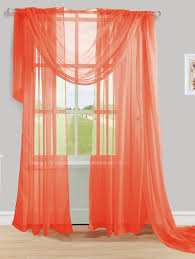 Coral Sheer Curtains Orange Coral Sheer Voile Curtain Scarf Moshells