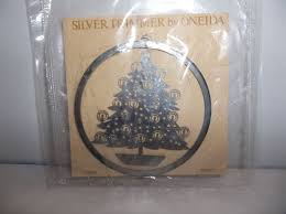 vintage oneida silver plated tree ornament mobile mip