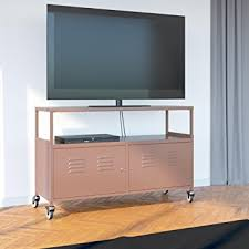 Metal Media Cabinet Amazon Com Tuscany Metal Lockable Tv Stand Cabinet Media Storage