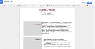 Google Templates Resume Microsoft Word Vs Google Docs On Columns Headers And Bullets