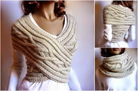 how to make cable knit sweater cowl vest how to