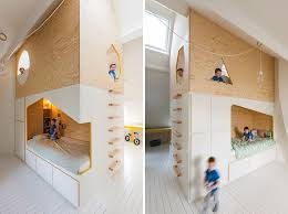 modern kids room this kids room has a custom designed double bed and lofted play