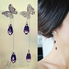 beautiful ear rings new arrival beautiful butterfly tassel earrings wigsbuy